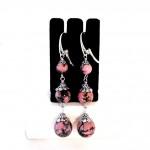 Boucles d'oreilles Rhodonite
